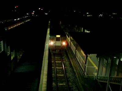 帰り、某駅での乗り換え時に。この直後バッテリー切れ(;´д⊂)。