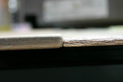 厚い部分の板。