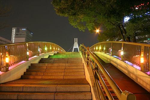 テレビ塔の北側にある橋。