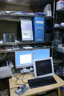 デスクトップPC5台。(ゆみみみっくす専用機のTOWNS含む(笑))