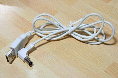 USBの先がDCコネクタになっただけ(笑)